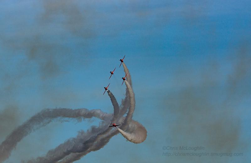 RAF Red Arrows at RAF Linton-on-Ouse last week