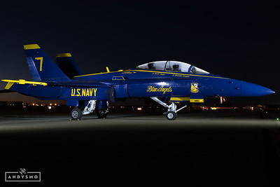 Blue Angel Light Painting