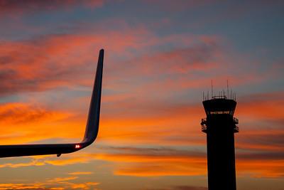 """winglet & tower sunrise"""
