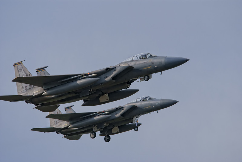 USAF F-15 Eagle's at RAF Coningsby