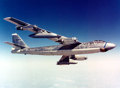 Boeing B-47 similar to the one that exploded over the city of Little Rock.  Courtesy of the Boeing Airplane Company