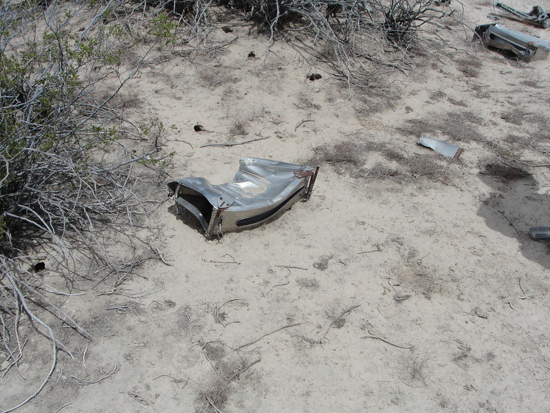First wreckage we saw were these .50 cal magazines, which would have been in the nose of the aircraft.  Each magazine held 300 rounds, for 1800 rounds total.