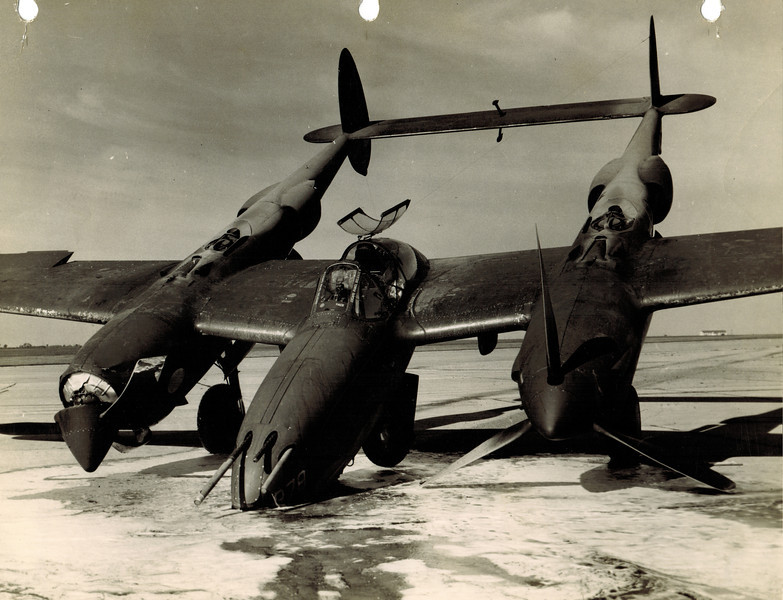 Lockheed P-38H Lightning 42-66878 14 October 1943<br /> <br /> This Will Rogers Field-based P-38 had a mishap at Enid AAF.