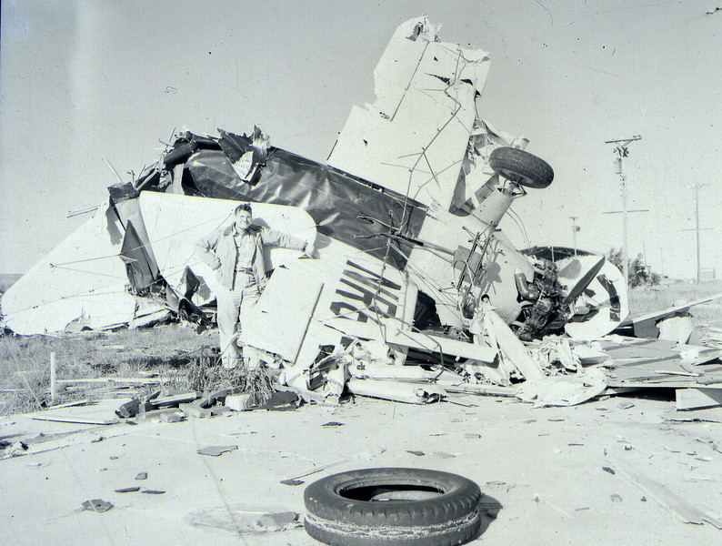 Aftermath of the 1947 Woodward, OK tornado.