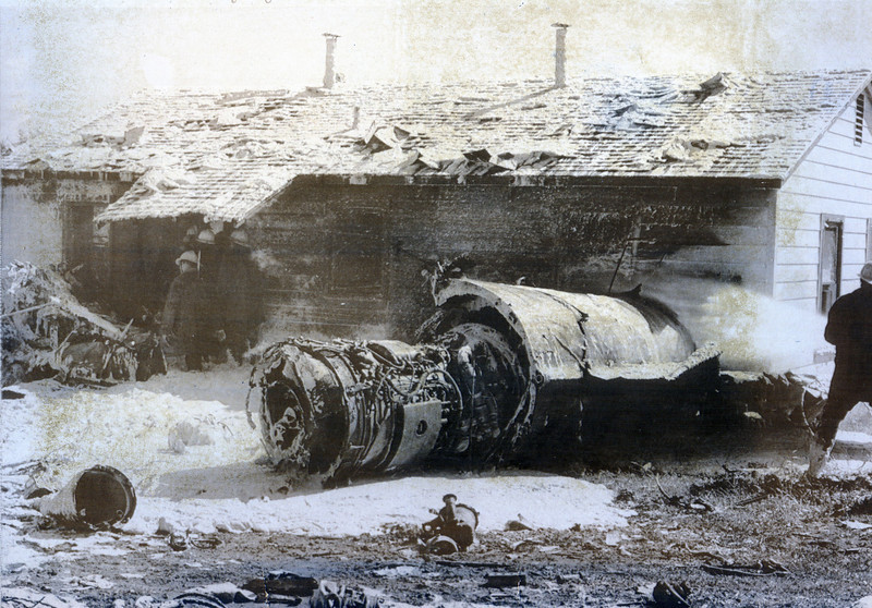 North American TF-100F 56-3920 7 October 1969<br /> <br /> Eight years and a half-mile north from the crash of F-100 56-3351, this Kansas ANG TF-100 crashed after takeoff from Tinker AFB when the engine failed.
