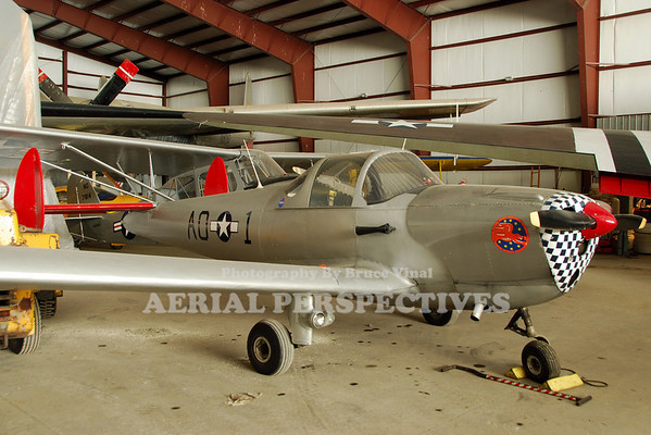 "Ercoup YO-55 in the colors of ""The Tuskeegee Airmen"""