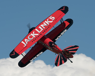 Jack Links jet powered Waco Screamin Sasquatch at Oshkosh 2016