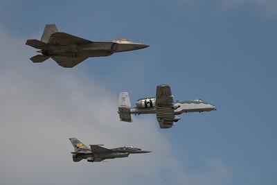 USAF Heritage Flight at London Ontario