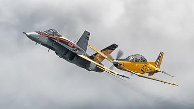 CF-18 with CT-156 Harvard II