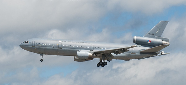 Royal Netherlands Air Force DC-10 arriving at Duluth Minn, July 2011.