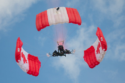 CAF Skyhawks parachute team at London 2016
