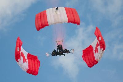 CAF Skyhawks parachute team at London 2016