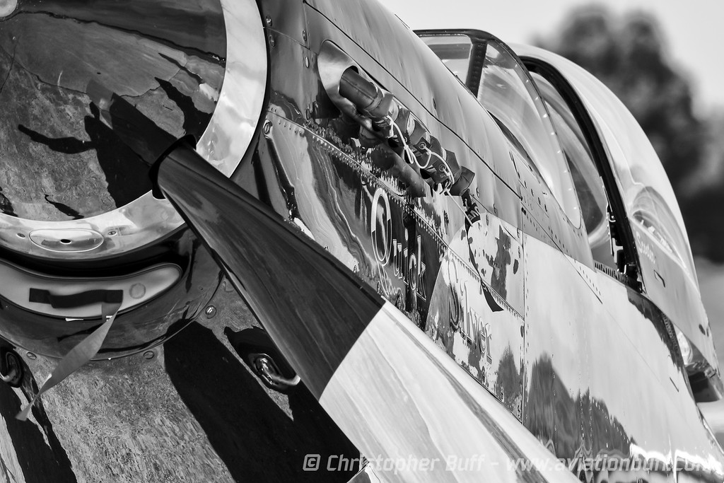 Quick Silver Closeup, in Black & White - Christopher Buff, www.Aviationbuff.com