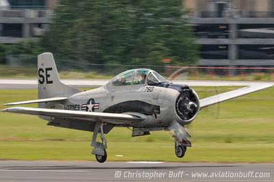 T-28 Trojan  - By Christopher Buff, www.Aviationbuff.com