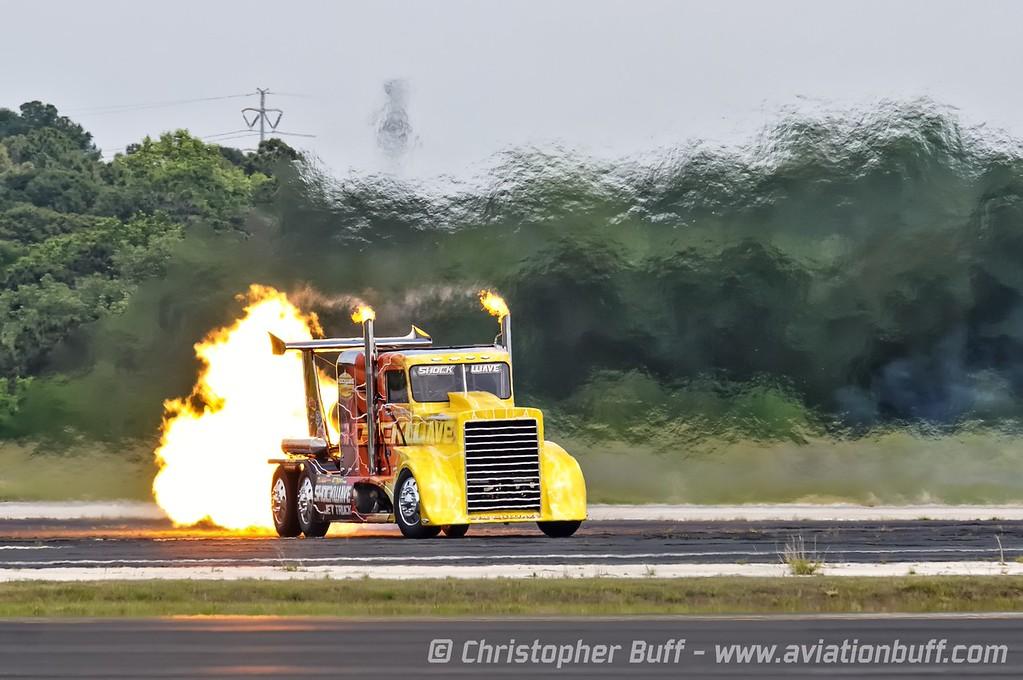 Chris Darnell in Shockwave  - By Christopher Buff, www.Aviationbuff.com