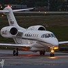 Citation X Evening Arrival - Christopher Buff, www.Aviationbuff.com
