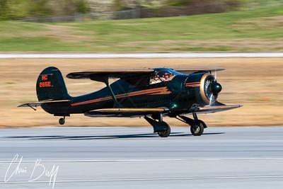 Staggerwing Takeoff Roll - 2018 Christopher Buff, www.Aviationbuff.com