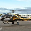 Sundance  Eurocopter EC130T2 N208SH departs from the parking lot after HeliExpo 2014 in Anaheim, CA