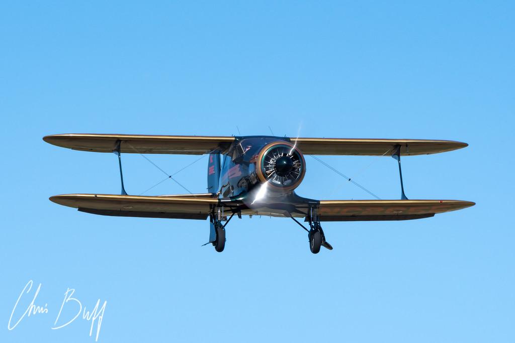 Staggerwing Final Approach - 2018 Christopher Buff, www.Aviatinbuff.com