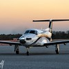 PC-12 Evening Arrival - Christopher Buff, www.Aviationbuff.com