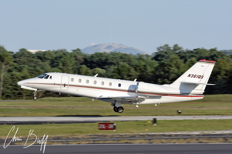 Citation 680 Takeoff-  Christopher Buff, www.Aviationbuff.com