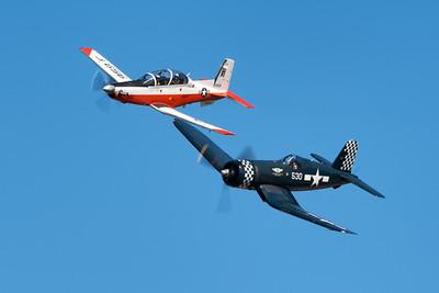 T-6B and F4U Legacy Flight