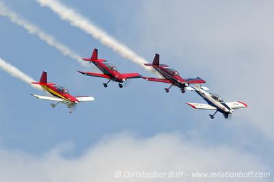 Team AeroDynamix 4 ship  - By Christopher Buff, www.Aviationbuff.com
