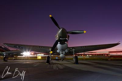 Warhawk at Dawn - 2016 Christopher Buff, www.Aviationbuff.com