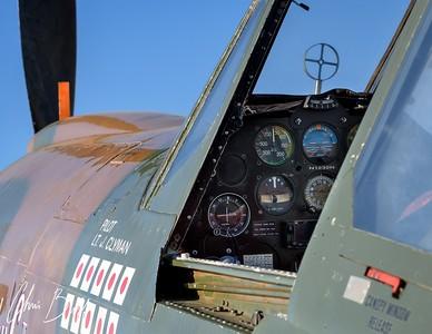 Warhawk Cockpit - 2016 Christopher Buff, www.Aviationbuff.com
