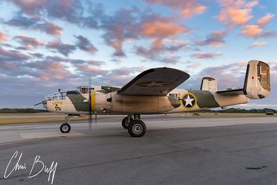 """B-25 Mitchell """"Killer B"""" - 2017 Christopher Buff, www.Aviationbuff.com"""