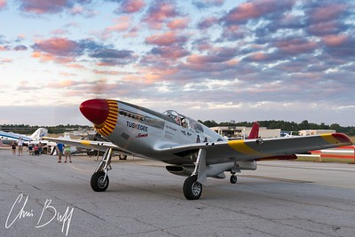 Red Tail Returns to the Ramp - 2017 Christopher Buff, www.Aviationbuff.com