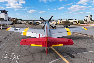 P-51 and other warbirds at PDK Atlanta - 2017 Christopher Buff, www.Aviationbuff.com