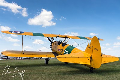 Yellow Stearman on Green Grass