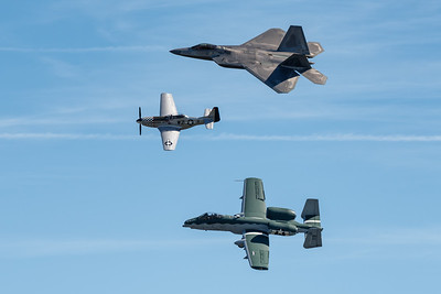 Heritage Flight with Raptor, Mustand and Warthog