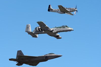 Heritage Flight over Moody AFB