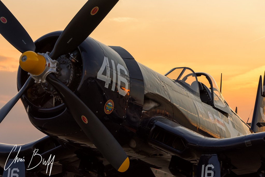 Corsair at Twilight - Christopher Buff, www.Aviationbuff.com