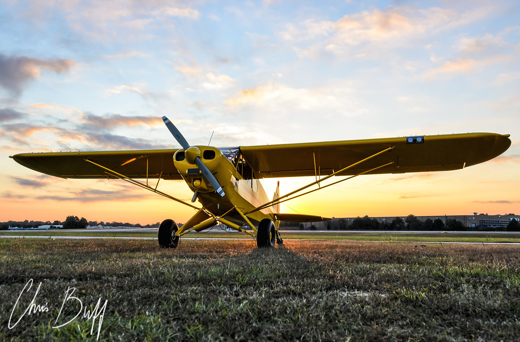 Super Cub Sunrise by Chris Buff, Aviationbuff.com