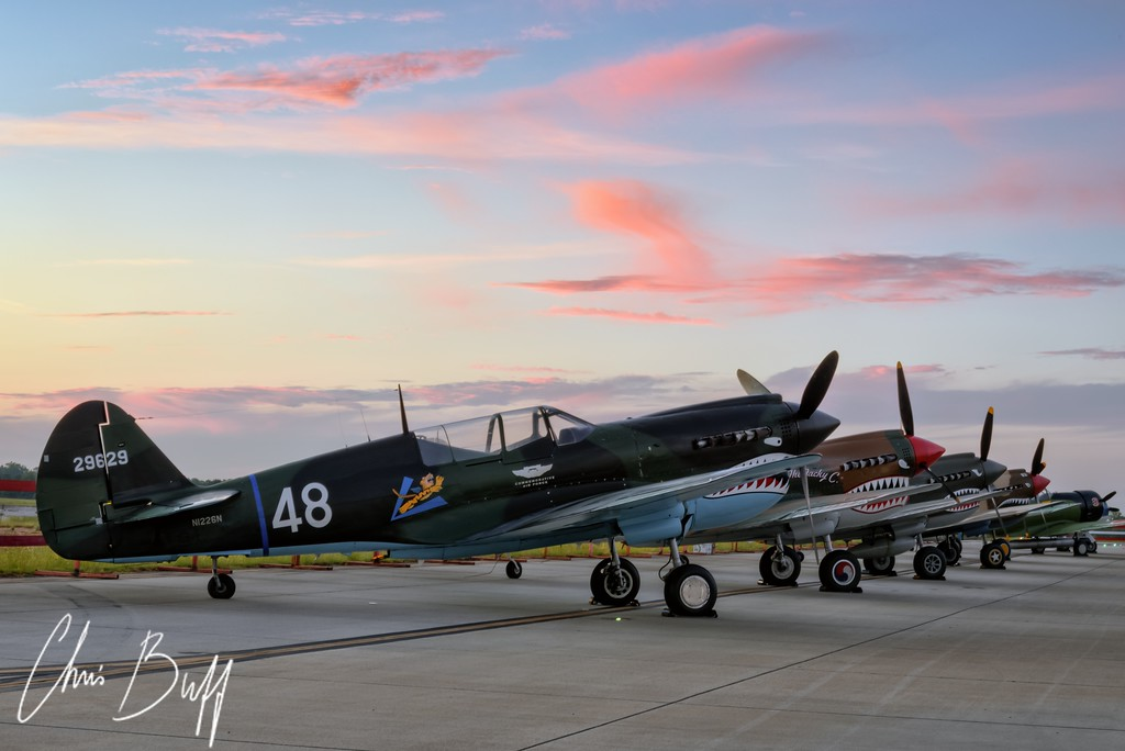Warhawk Row II - 2016 Christopher Buff, www.Aviationbuff.com