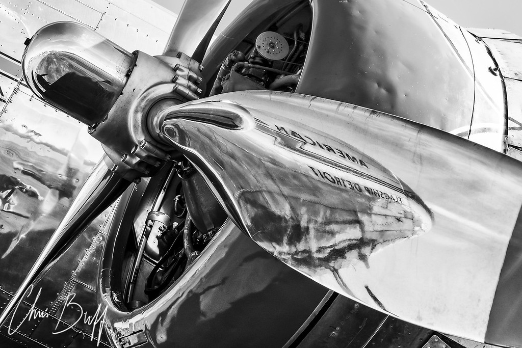 Black & White Aviation Fine Art Photography by Chris Buff