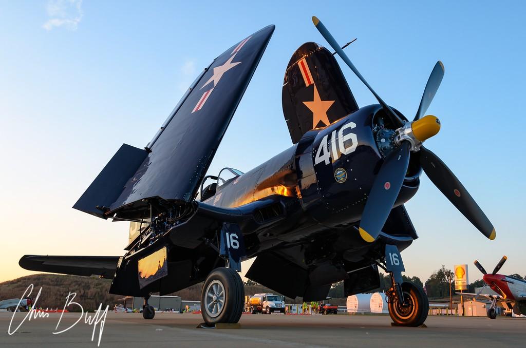 Twilight Corsair - 2017 Christopher Buff, www.Aviationbuff.com