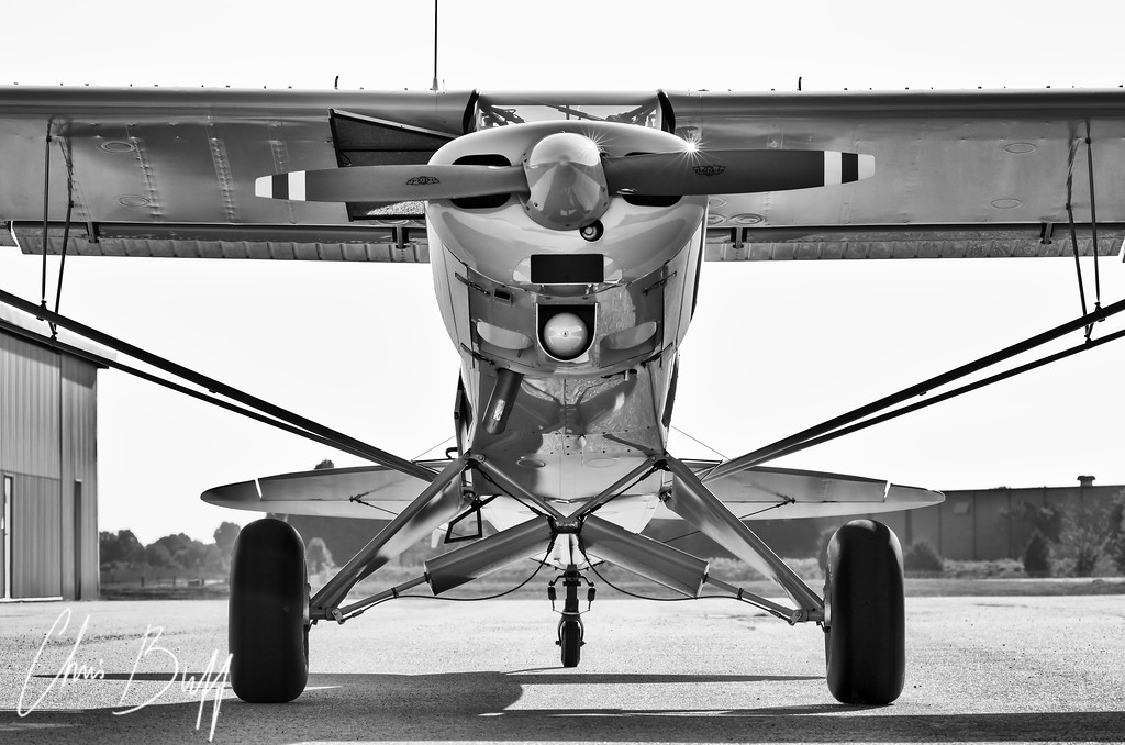 Cub nose to nose - For Wide Prints - Christopher Buff, www.Aviationbuff.com
