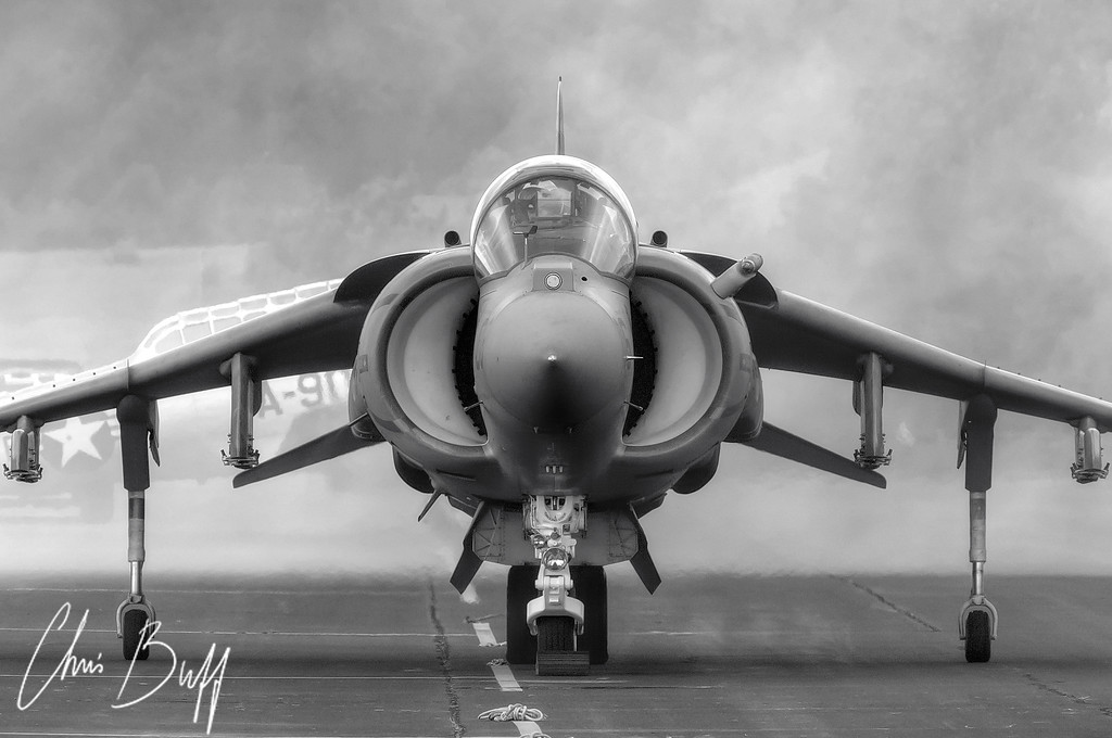 HARRIER STARTUP - By Christopher Buff, www.Aviationbuff.com