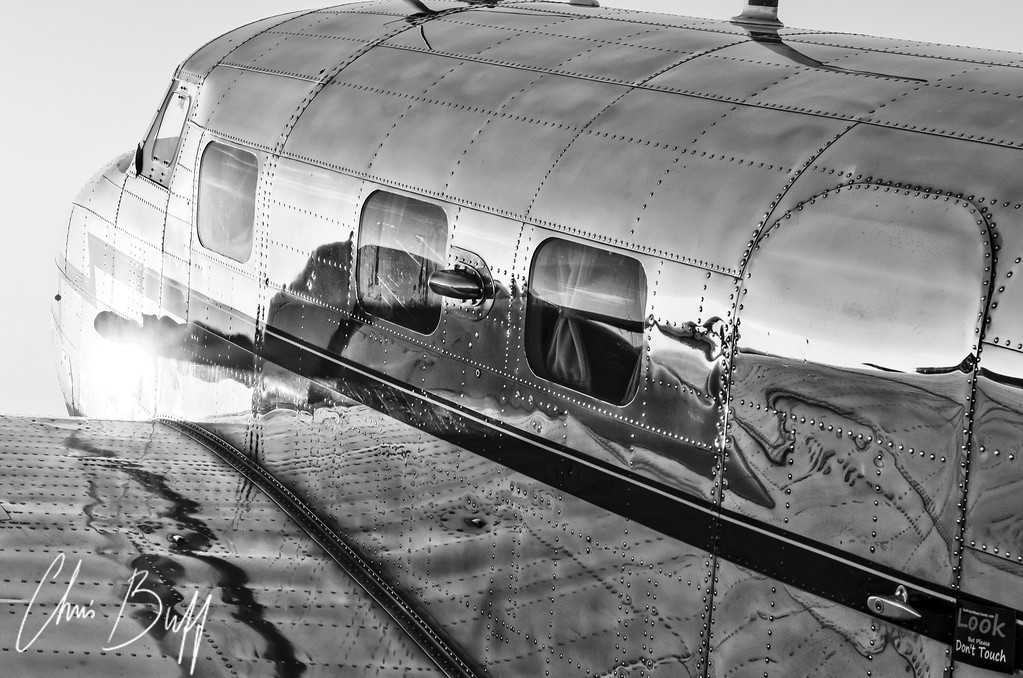 Gleaming Sunset in Black & White - By Christopher Buff, www.Aviationbuff.com