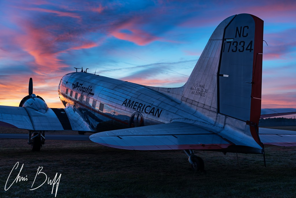 Sunrise on the Flagship - 2017 Christopher Buff, www.Aviationbuff.com