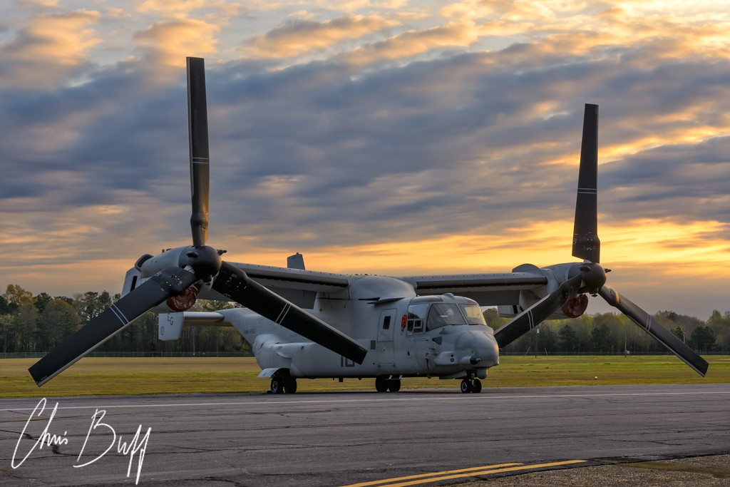 Osprey at Daybreak - Christopher Buff, www.Aviationbuff.com