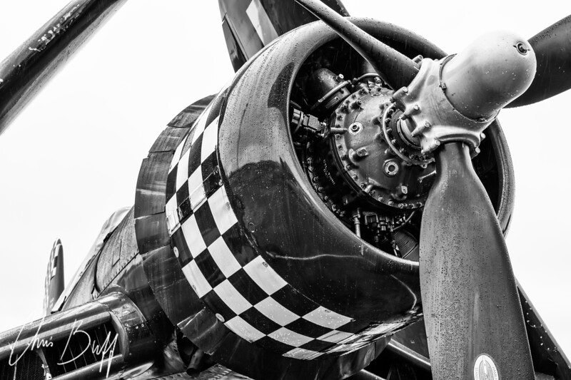 Corsair in the Rain - 2015 Christopher Buff, www.Aviationbuff.com