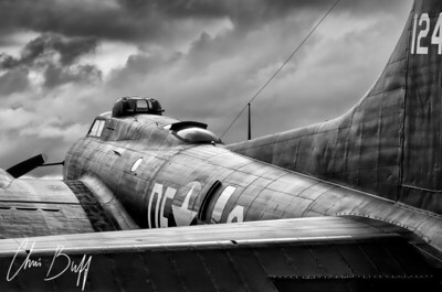 Storm Couds over Memphis Belle - 2017 Christopher Buff, www.Aviationbuff.com