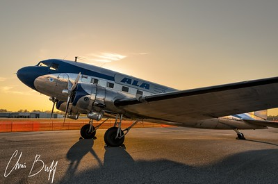 DC-3 at Dusk - 2016 Christopher Buff, www.Aviationbuff.com