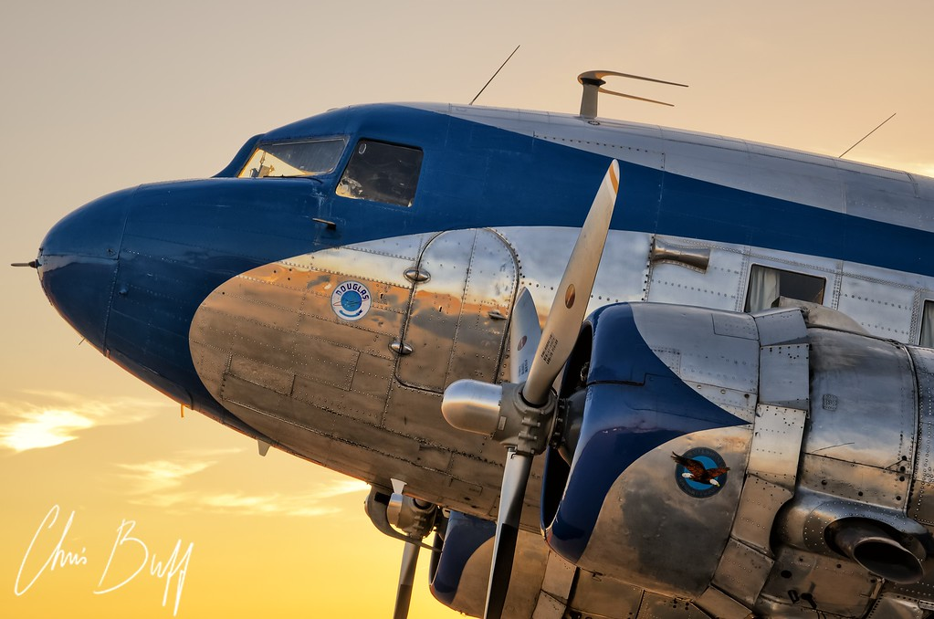 DC-3 Sunset - Christopher Buff, www.Aviationbuff.com