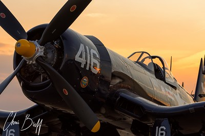 Corsair at Twilight - Christopher Buff, www.Aviationbuff.com